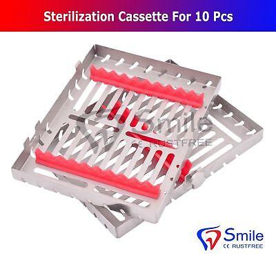 Sterilization Cassette Rack Tray Holds 10 Dental Surgical Instruments Smile 3
