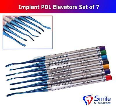 7X Dental Implant Proximators PDL Luxating Elevators Surgery Dental Instruments 6