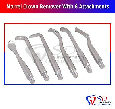 Morrel Crown Remover With 6 Attachments Dental Crown Bridges Remover Kit CE NEW 2
