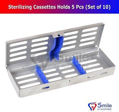 10X Sterilization Cassette Rack Tray Holds 5 Dental Surgical Instruments FDA CE 3
