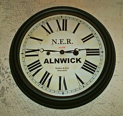 North Eastern Railway, NER Victorian Style Waiting Room Clock, Alnwick Station. 4