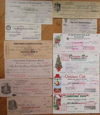 Antique Checks, 100+ DIFFERENT QUALITY- ALL Pictured, Most 1870-1910, All Issued 6