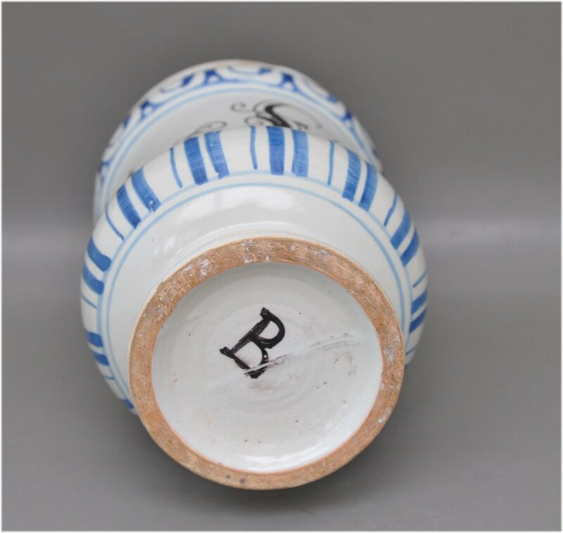 Antikes Apothekengefäß - Emp. diaphen. aless - Keramik 18. Jh. - gemarkt 4