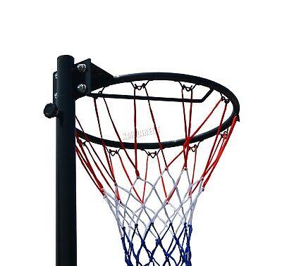 FoxHunter Netball Post Set Stand 3.05M Adjustable Height - With Wheel Hoop Net 5