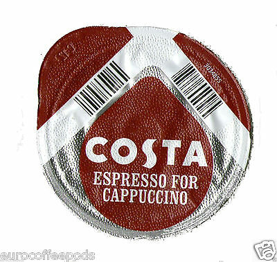 Tassimo Costa Cappuccino Coffee 48 T Discs 24 Drinks Sold Loose