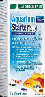 Dennerle Aquarium Starter Rapid 2-component Bacteria Filter + Activator Nutrient 4 • EUR 13,42