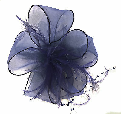 Ladies Feather Hair Wedding Fascinator Clip Races Bridal Hair Accessory Ascot 7