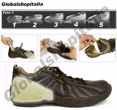 ALZATACCO SOLETTA ALZA TACCO PLANTARE GEL ALZA STATURA FINO 5 cm INVISIBILE NEW 3