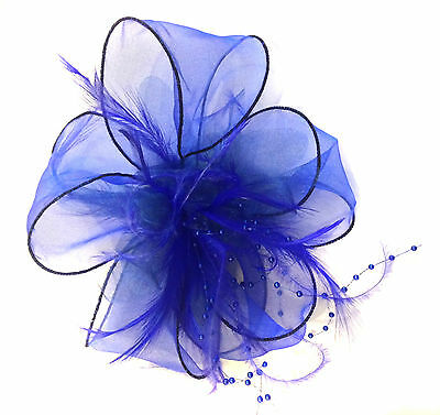 Ladies Feather Hair Wedding Fascinator Clip Races Bridal Hair Accessory Ascot 5