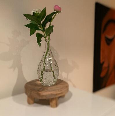 4x Deko-Flaschen Glasvase Tischvase 20cm Set Blumenvase Glasflasche Vase Väschen 8