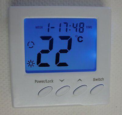 Thermostat Fußbodenheizung AUFPUTZ weiß elektronische Regelung #z830ap