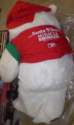 "Keebler I Believe in Santa /& Elves 36/"" Teddy Bear Plush Miracle 34th Street 1994"