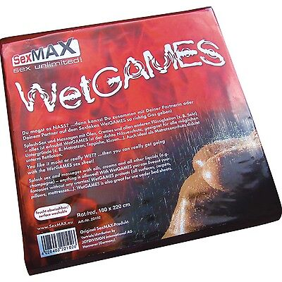 SexMAX WetGAMES LACK LATEX PVC Laken Bettlaken Spielwiese + Bioglide Gleitgel