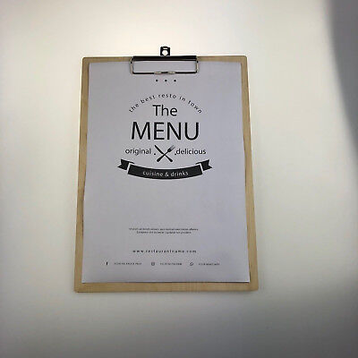 Menu Clipboard Birch Plywood Customisable Wooden 2
