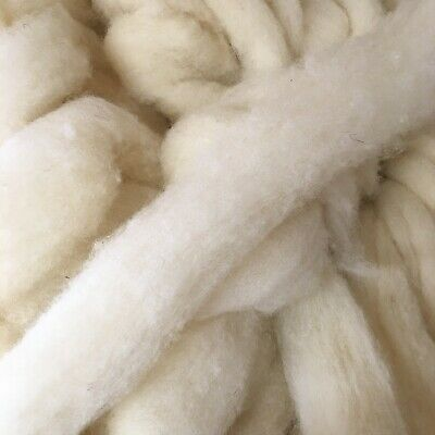 Needle Felting Core wool 1kg Mixed Breed Natural White Carded Sheep Wool