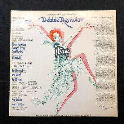 DEBBIE REYNOLDS signed autograph signature IRENE Musical Comedy Record Album LP 2