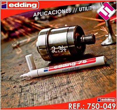 Rotulador Edding Marcador Blanco Permanente Profesional 2 - 4 Mm Modelo 750-049 2