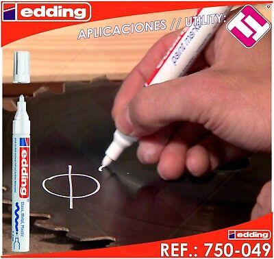 Rotulador Edding Marcador Blanco Permanente Profesional 2 - 4 Mm Modelo 750-049 11