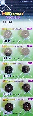 10 X Lr44 Ag13 A76 675 1166A L1154 Alkaline Button Battery Batteries 1.5V 3