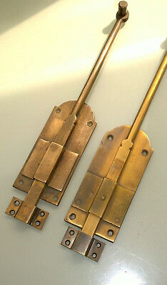 """4 flush BOLT french old age style doors furniture heavy brass slide 11"""" bolts B 8"""