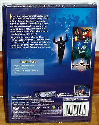 Fantasia Clasico Disney  Nº 3 Dvd Nuevo Precintado Animacion (Sin Abrir) R2 2