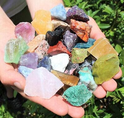 1000 Carat Lot Bulk Mixed Crafters Gems Crystal Natural Rough Raw Mineral Rocks 10