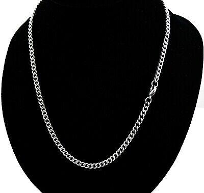 Edelstahlkette Panzerkette Halskette Silber Herren Damen Modeschmuck 4