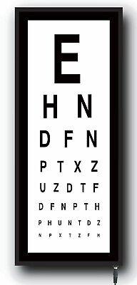 Children's Eye Test Chart light box medical opticians Games Room Nursery LED 2