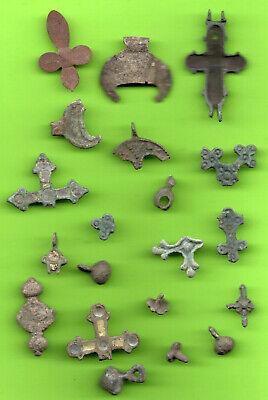 Lot 20 Ancient Viking Enamel Bronze Cross Kiev Russia Ukraine 1100 Byzantine 76 2