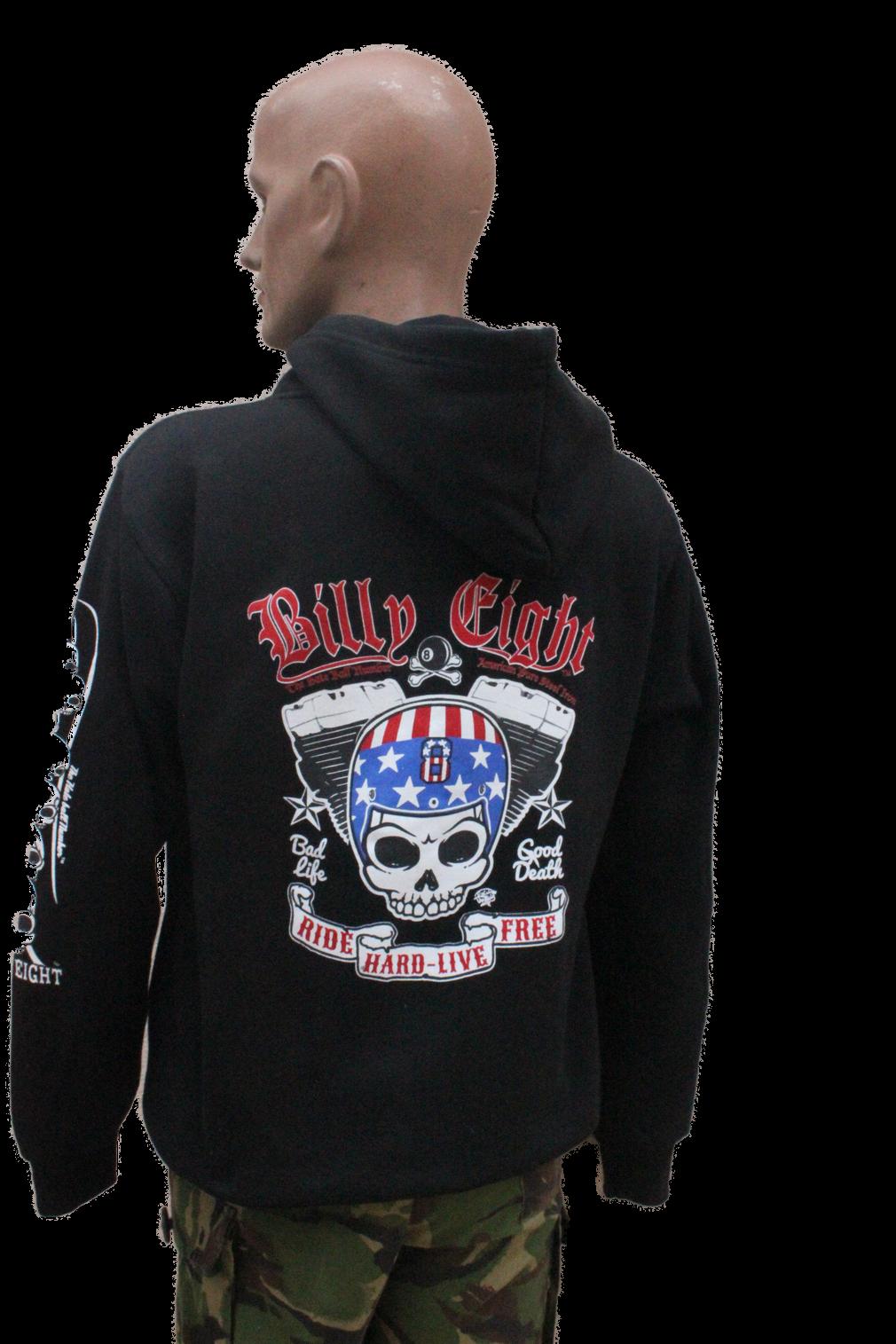 Kalifornia Kustom Shop Sweat capuche Billy Eight fermeture zip * *