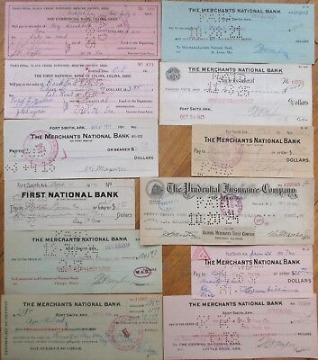 Antique Checks, 100+ DIFFERENT QUALITY- ALL Pictured, Most 1870-1910, All Issued 3