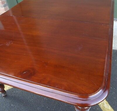 Antique Victorian Mahogany Pull-Out Extending Dining Table with One Leaf 4