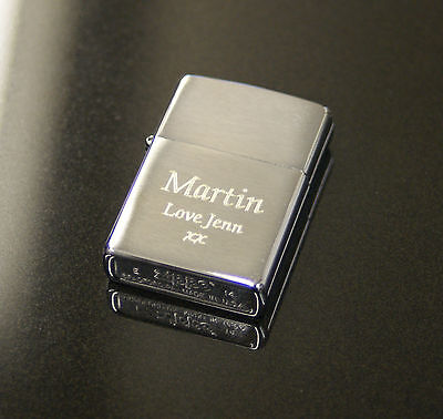 Personalised Zippo Lighters, free engraving, fast free delivery. Genuine Zippo 6