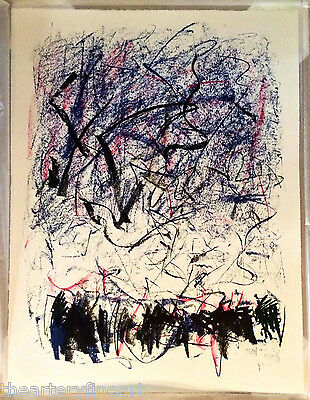 JOAN MITCHELL 'Bedford III' 1981 SIGNED Lithograph Limited Edition Print Framed 3