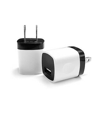 1x Wall Charger Adapter + 1x USB Data Sync Charger Charging For Phones Tablets 3