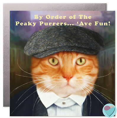 Funny Cat Birthday Cards Mum Dad Brother Sister Nephew to from cat lover