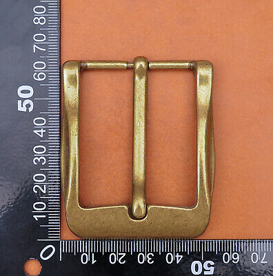 40mm Cool Solid Antique Brass Casual Men Single Pin Prong Leather Belt Buckle 8