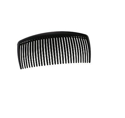 2  Brown Long Large Side Hair Combs Plain Plastic Slides Grips UK SELLER