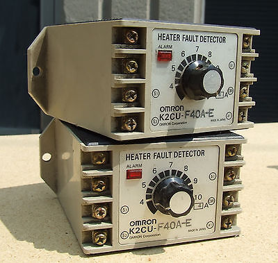 LOT SET of 2 Omron K2CU-F40A-E Heater Fault Detector Units with alarm f 2