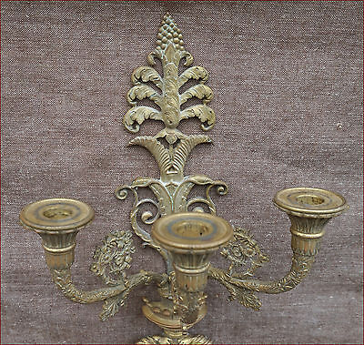 Elegant French Empire Ormolu Bronze 3 Lights Sconce with  P F Thomire 1810 2