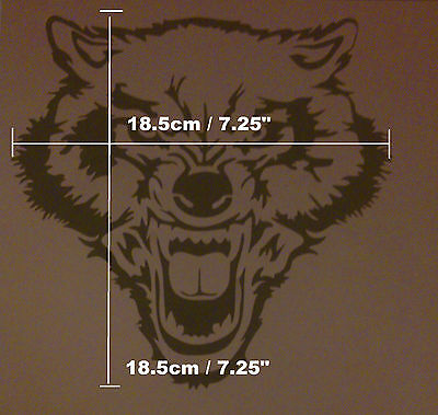 W1 ANGRY WOLF Airbrush Reusable Stencil Mask Template Paint Craft Animal T Shirt