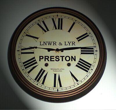 LNWR & LYR Styled Station / Waiting Room Wall Clock, Preston Station 3