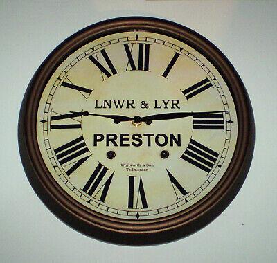 LNWR & LYR Styled Station / Waiting Room Wall Clock, Preston Station 4