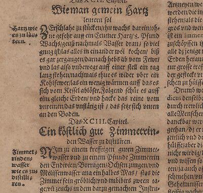 Gummi Mastix ÖL Apotheker Orig Textblatt um 1620  Medizin Arzt Balsam Rosenöl 6