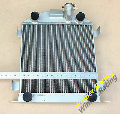 56mm aluminum/alloy radiator Ford Lowboy chopped w/flathead V8 engine 1932-1939