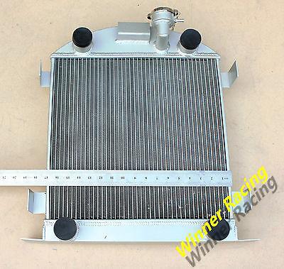 56mm aluminum radiator for Ford Lowboy chopped w/flathead V8 engine 1932-1939