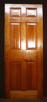 """2 avail 30""""x76"""" Antique Vintage Colonial Solid Wood Wooden Interior Door 6 Panel 4"""