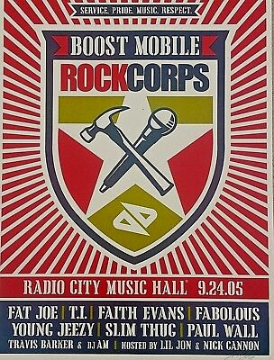 2005 Shepard Fairey Signed Ltd Print NY Concert Poster NY Obey Giant Street Art 2