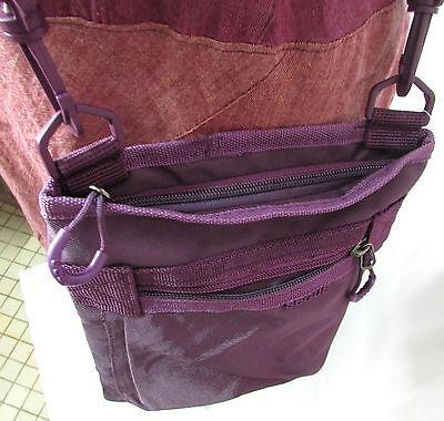 7bd3e5e094 ... PETIT SAC POCHETTE BANDOULIERE SACOCHE femme ado violet zip SEGUE NEUF 2