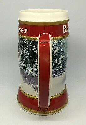2019 Budweiser Holiday stein beer mug frm annual Christmas series WINTER PASSAGE 7